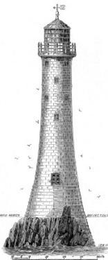 The Bishop Rock Lighthouse, Scilly Isles, 1858