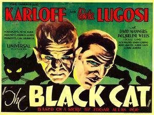 The Black Cat, Boris Karloff, Bela Lugosi, 1934