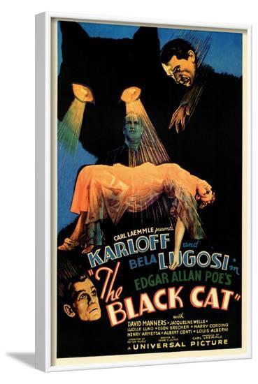 The Black Cat--Framed Art Print