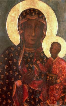 The Black Madonna of Jasna Gora, Byzantine-Russian Icon, 14th Century