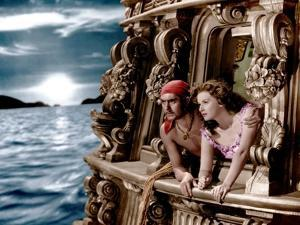 THE BLACK SWANN, 1942 directed by HENRY KING Tyrone Power and Maureen O'Hara (photo)
