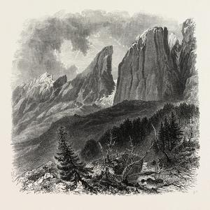 The Blattkogel, from the Sellajoch, Dolomites, South Tyrol, Italy, 19th Century
