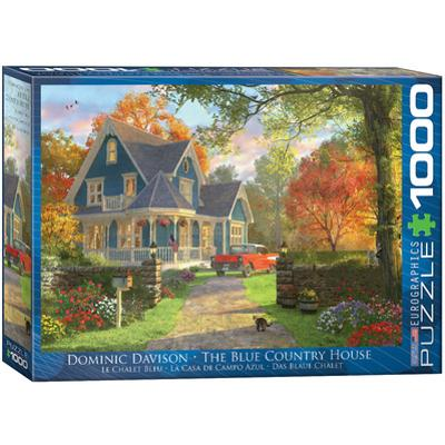 The Blue Country House by Dominic Davison 1000 Piece Puzzle