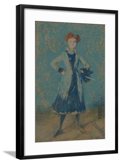 'The Blue Girl', c1874-James Abbott McNeill Whistler-Framed Giclee Print