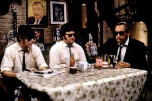 THE BLUES BROTHERS, 1980 directed by JOHN LANDIS Dan Aykroyd, John Belushi and Cab Calloway (photo)