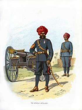The Bombay Artillery, C1890 by H Bunnett