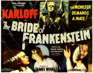 The Bride of Frankenstein, Boris Karloff, Elsa Lanchester, Colin Clive, Valerie Hobson, 1935