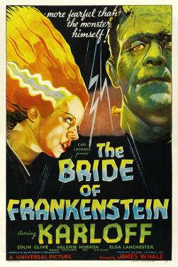 The Bride of Frankenstein, Elsa Lanchester, Boris Karloff, 1935