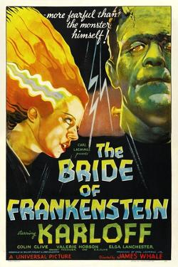 THE BRIDE OF FRANKENSTEIN, from left: Elsa Lanchester, Boris Karloff, 1935