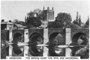 The Bridge over the Wye and Cathedral, Hereford, 1936