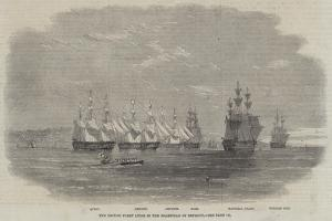 The British Fleet Lying in the Roadstead of Beyrout