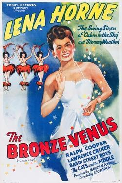 The Bronze Venus, (aka The Duke is Tops), Lena Horne on 1943 poster art, 1938