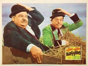 The Bullfighters, US Lobbycard, L-R: Oliver Hardy, Stan Laurel, 1945