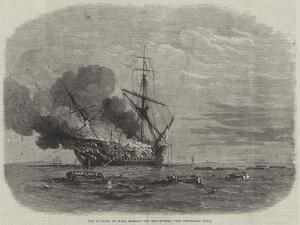 The Burning of HMS Bombay Off Montevideo