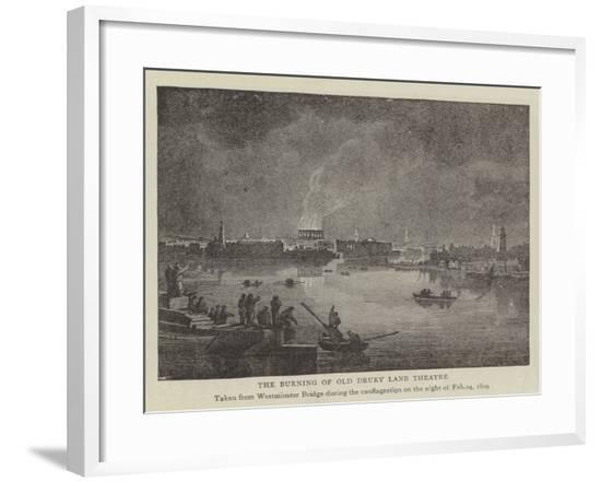 The Burning of Old Drury Lane Theatre--Framed Giclee Print