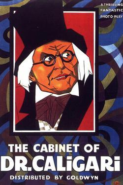 The Cabinet of Dr Caligari Movie Werner Krauss Conrad Veidt Poster Print