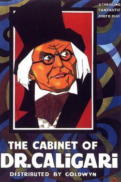 The Cabinet of Dr Caligari Movie Werner Krauss Conrad Veidt Poster Print