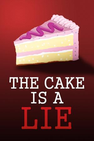The Cake is a Lie Portal Video Game Plastic Sign