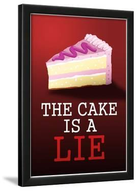 The Cake is a Lie Portal Video Game Poster Print
