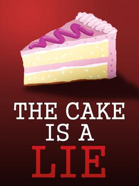 The Cake is a Lie Portal Video Game Poster