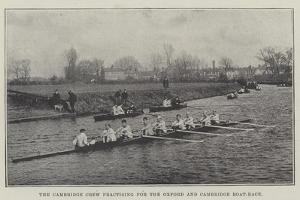 The Cambridge Crew Practising for the Oxford and Cambridge Boat-Race