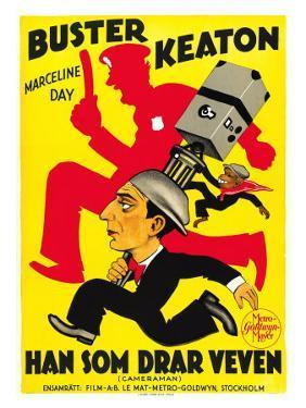 The Cameraman, Spanish Movie Poster, 1928
