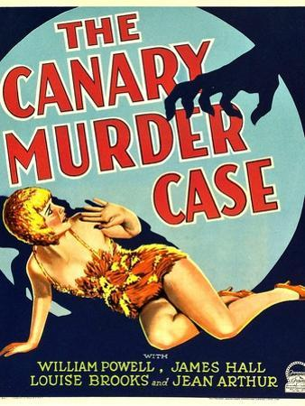 THE CANARY MURDER CASE, Louise Brooks on window card, 1929