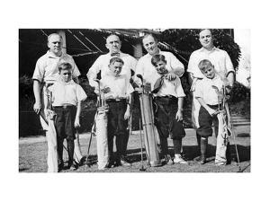 The Castleman brothers with sons, The American Golfer December 1921