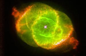 The Cat's Eye Nebula Space Photo Art Poster Print
