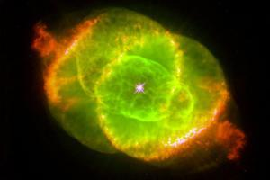 The Cat's Eye Nebula Space Plastic Sign