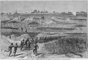 The Charge on Cemetery Ridge Magazine Illustration Published in Harper's Weekly