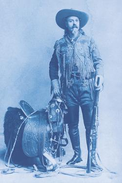Buffalo Bill Cody - Cyanotype by The Chelsea Collection