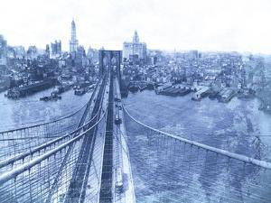 Queensboro Bridge, Long Island, 1935 - Blueprint by The Chelsea Collection