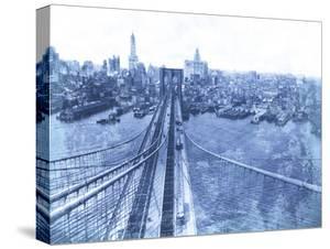 Queensboro Bridge, Long Island, 1935 - Blueprint by The Chelsea Collection