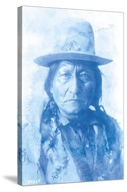 Sitting Bull - Cyanotype by The Chelsea Collection