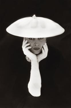 Woman in White Hat and Gloves by The Chelsea Collection