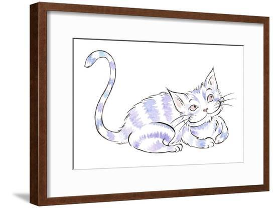 The Cheshire Cat - illustration to Lewis Carroll 's 'Alice's Adventures in Wonderland', 2005-Neale Osborne-Framed Giclee Print