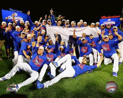 The Chicago Cubs celebrate winning Game 6 of the 2016 National League Championship Series
