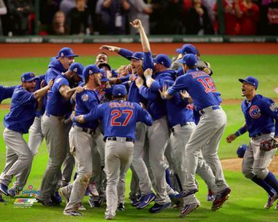 The Chicago Cubs celebrate winning Game 7 of the 2016 World Series