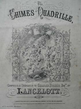 The Chimes Quadrille, Lancelott Song Sheet, 1855