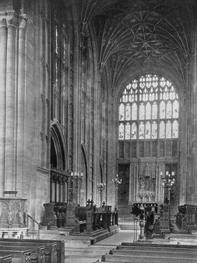 The Choir, Sherborne Abbey, Dorset, 1924-1926 by E Bastard