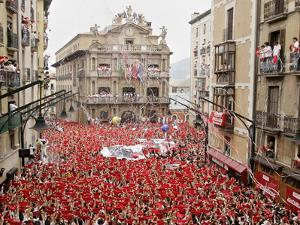 """The """"Chupinazo"""" the Official Opening of the 2006 San Fermin Fiestas"""