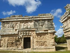 The Church in Ancient Mayan Ruins, Chichen Itza, UNESCO World Heritage Site, Yucatan, Mexico