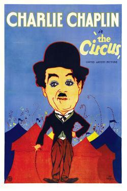 The Circus Movie Charlie Chaplin Plastic Sign