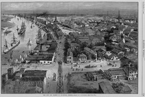 The City and Harbor of Savannah, Georgia Magazine Illustration by Julian Oliver Davidson