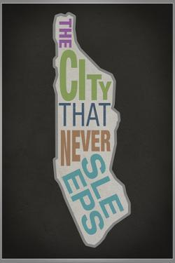 The City That Never Sleeps Plastic Sign
