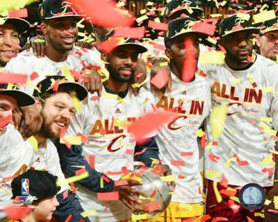 The Cleveland Cavaliers Celebrate the Eastern Conference Finals