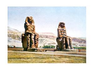 The Colossi of Memnon, Egypt, 20th Century