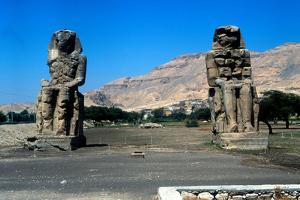 The Colossi of Memnon, Near the Valley of the Kings, Egypt, 14th Century Bc