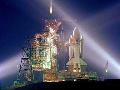 The Columbia on Launch Pad Prior to First Launch of 30 Year Space Shuttle Program, Apr 12, 1981